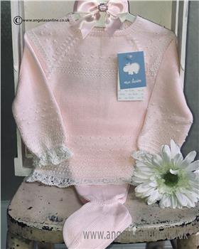 Macilusion baby girls jumper & footsie 7203-19 Pink