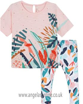 Catimini girls top & legging set CN10065-24015-19