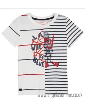 Catimini boys summer T shirt CN10044-19 Ecru