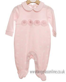 Mintini baby girls cotton babygrow MB2452-19 Pink