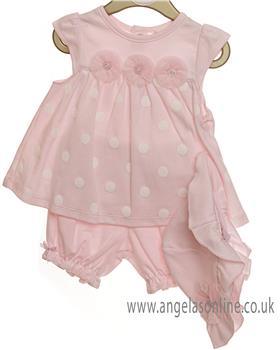 Mintini baby girls 2 piece set MB2453-19 Pink