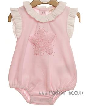 Mintini baby girls bubble all-in-one MB2419-19 Pink
