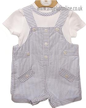 Mintini baby boys dungaree MB2378A-19 Blue