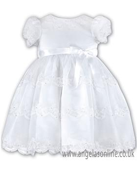 Sarah Louise Christening Dress  070008 White