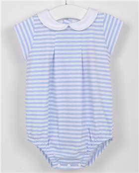 Babidu Baby Boys Striped Romper 12286-19 BLUE