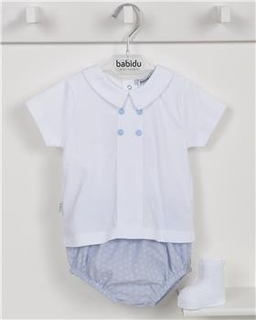 Babidu Baby Boys Two Piece 42413-19 WH/BL