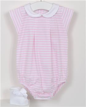 Babidu Baby Girls Striped Romper 12286-19 PINK
