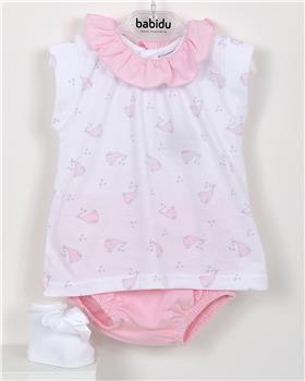 Babidu Baby Girls Two Piece Whale Set 41288-19 PINK