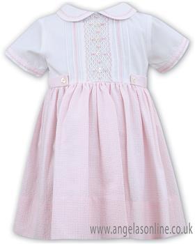 Sarah Louise girls dress 011516-19 PK/WH