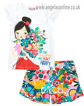 Boboli girls T shirt & short 827164-821175