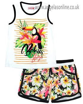 Boboli girls T shirt & short 827388-827399