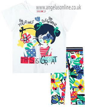 Boboli girls T shirt & legging 467007-467052