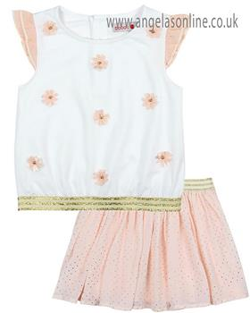 Boboli girls T shirt & skirt 727220-727231