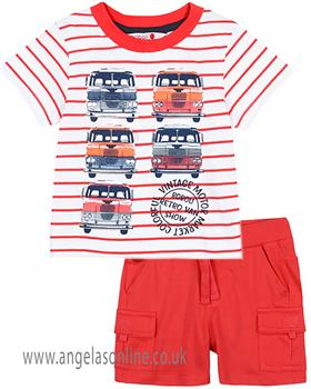 Boboli Boys T-Shirt & Short Set 327046-397076-19