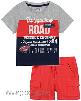 Boboli Boys T-Shirt & Short Set 327035-397076-19