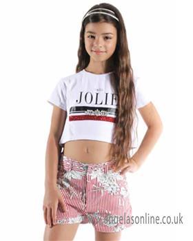 Jeycat girls outfit JCJTS976-977-19 Wh/Rd