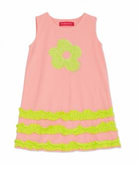 Agatha Ruiz girls wave dress 7VE3185-19 coral