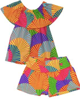 Agatha Ruiz Girls Africa T shirt & short 7TS5125-CL0883-19
