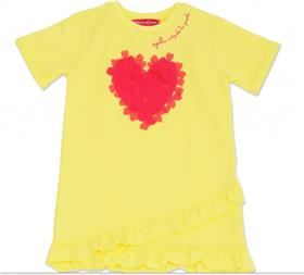 Agatha Ruiz girls geometric heart dress 7VE3195-19 Yell