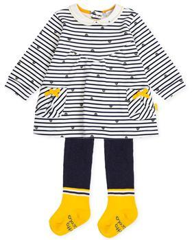 Tutto Piccolo girls dress & tights 7793-19 Yellow