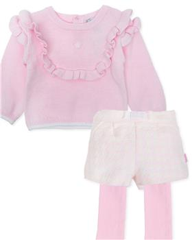 Tutto Piccolo girls jumper & short 7710-7413-19 Pink