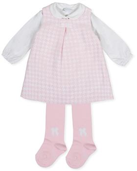 Tutto Piccolo girls pinafore & tights 7412-19 Pink