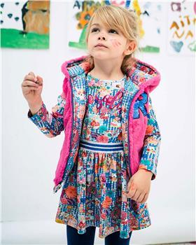 Rosalita Senorita girls winter dress Jungfrau Print dress-1