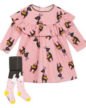 Catimini girls dress & tights CP30033-94023-19 Pink