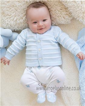 Emile et Rose baby boy all in one & cardi 1839pb Rufus