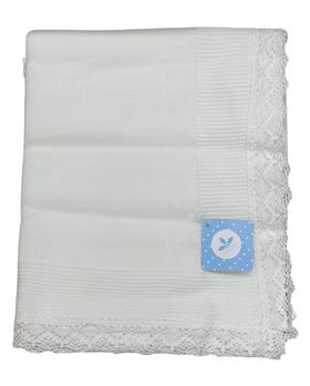 Sardon Baby Lace Blanket VE-307-19 WHITE