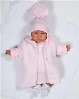 Sardon girls dress & jacket set MC-170-19 Pink