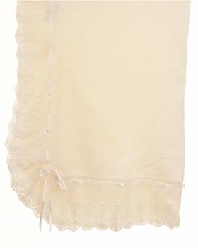 Sardon unisex newborn baby blanket AM-862-19 Cream