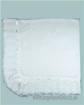 Sardon unisex newborn baby blanket AM-862-19 White