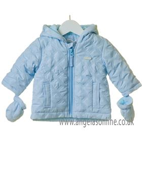 Bluesbaby boys quilted anorak  TT0004-19 Blue