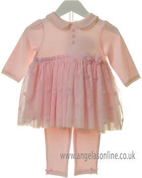 Bluesbaby girls dress & legging set TT0053-19 Pink