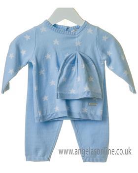 Bluesbaby boys star set with hat TT0109-19 Blue