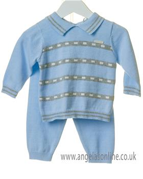 Bluesbaby boys striped jumper & pants TT0113-19 Blue