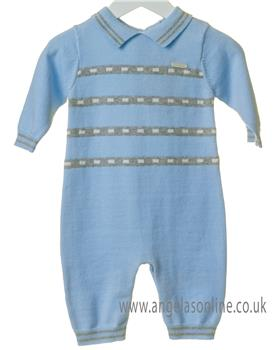 Bluesbaby boys striped all-in-one TT0114-19 Blue