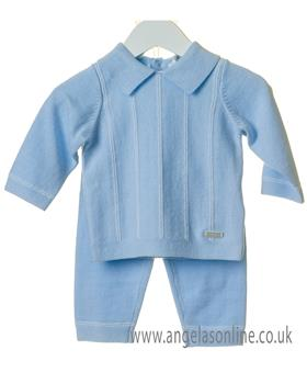 Bluesbaby boys striped jumper & pant set TT0119-19 Blue