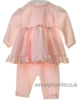 Bluesbaby girls frilled bow top & leggings TT0162-19 Pink