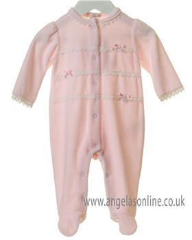 Bluesbaby newborn girls frilled babygrow TT0172-19 Pink
