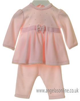 Bluesbaby girls diamante top & pants TT0177-19 Pink