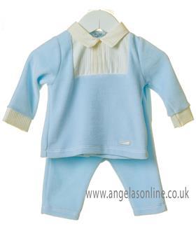 Bluesbaby boys jumper with yoke & pants TT0196-19 Blue