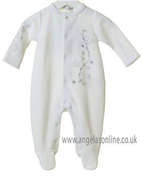 Bluesbaby newborn star all-in-one with hat TT0221-19 White