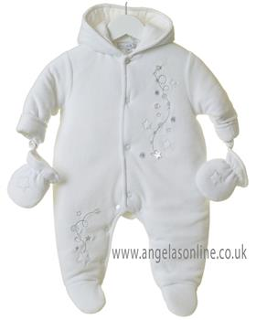 Bluesbaby newborn star snowsuit TT0222-19 White