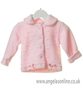 Bluesbaby cardigan with bow details TT0253-19 Pink