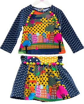 Rosalita Senorita girls top & skirt Brig-2-3