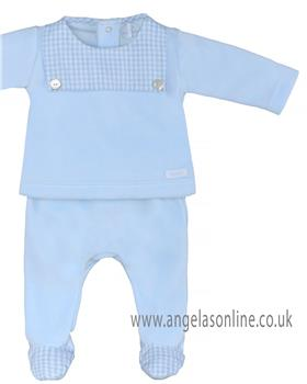 Laranjinha baby boys 2 piece set 19405-19 Blue
