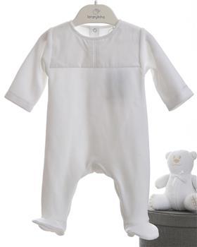 Laranjinha newborn baby unisex all-in-one 19438-19 White