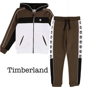 Timberland Boys Long Sleeve Winter Tracksuit T45802-44409-19 GREEN